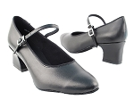 1682 Black Leather  & Thick Cuban Heel