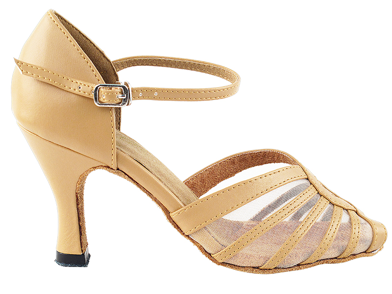 2f64bdc4aafda 2719 Beige Brown Leather Flesh Mesh with 3  Clarks Artisan Latin Flower  Leather Thong Sandals ...