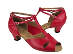 S2803 Red Leather & Cuban Heel