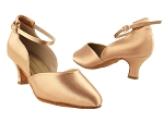 S9129 Tan Satin_2_inch Heel Vegan