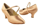 S9138 Tan Satin_2_inch Heel Vegan