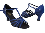 16612 301 Dark Blue Satin_Black Mesh