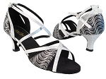 1696 213 Black Silver Wave Glitter_126 Silver Stardust Trim_H without T Strap