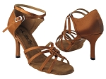5011LEDSS 130 Dark Tan Fine Satin_6646_3inch Slim Heel