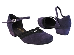 8881 281 Purple Suede_244 Black Suede Trim