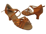 S9216 Copper Tan Satin_2 inch slim cuban Heel