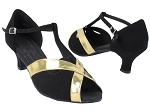 S9275 73 Black Nubuck_62 Gold PU Trim