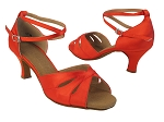 SERA3840 118 Red Satin_X-Ankle Strap