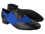 M100101 Black Leather_247 Blue Satin
