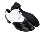 PP302 Black Patent_F_B_White Leather_M