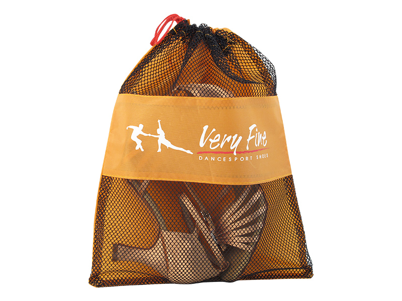 canvas shoe bag with mesh
