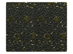 41 Gold Dots Black Fabric