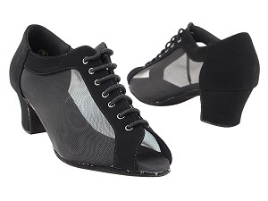 C1643 Black Nubuck_Black Mesh Vegan