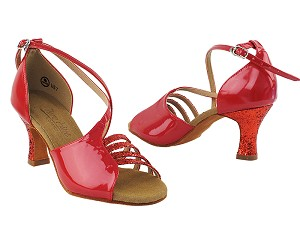 C1651 Red Sparkle _Red Patent Vegan