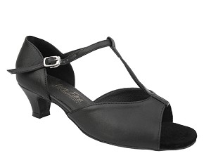 1609 Black Leather & Cuban Heel