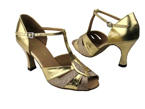 2702 Gold Stardust & Gold Leather