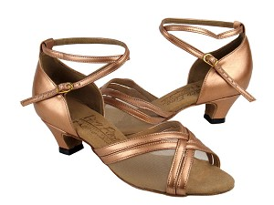 S9204 Copper Nude Leather & Cuban Heel