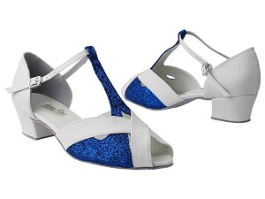 2703 Blue Stardust _White Leather