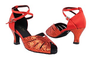 2713 Red Sparkle_Red Satin