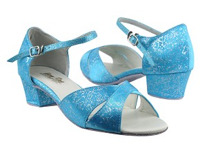 803 104 Blue Flower Satin