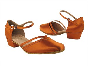 8881 182 Orange Tan Satin_Whole Shoes