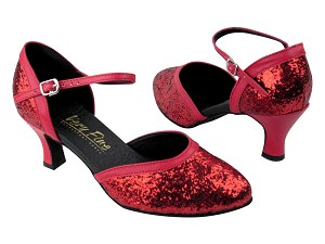 9621 Red Sparkle_Red Leather Trim