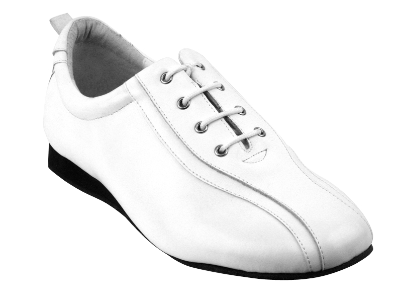 SERO103 White Leather with flat heel in the photo