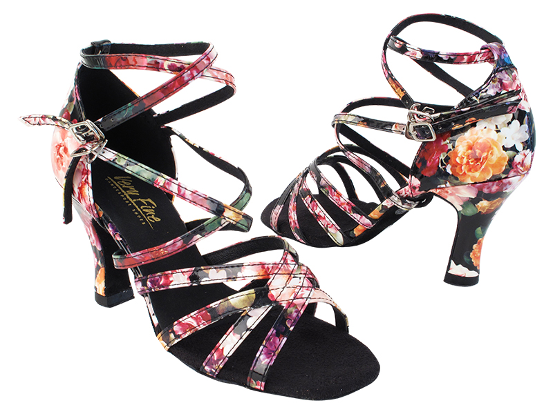 5008 288 Flower PU with (6812) 3 inch Heel in the photo