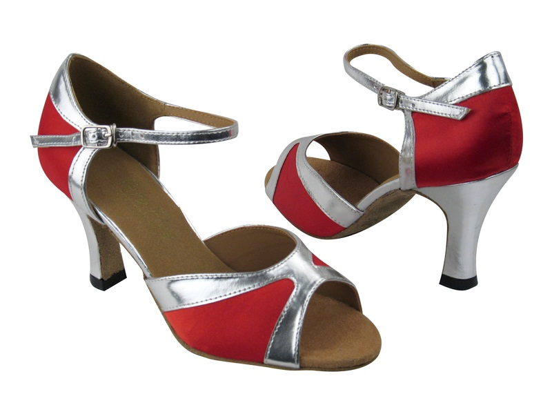 6024 Red Satin_Silver Trim