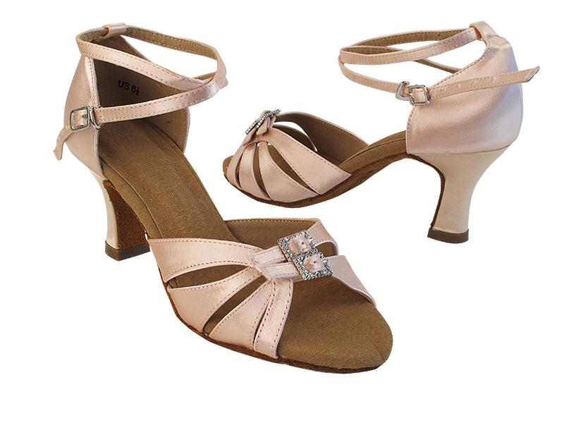 S92307 215 Flesh Satin_X-Strap Ankle with Loop with (PG) 2.5