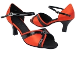 SERA3710 118 Red Satin_Black Patent Trim