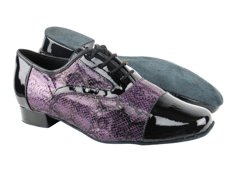916102 Black Patent_F_B_252 Purple Snake_M
