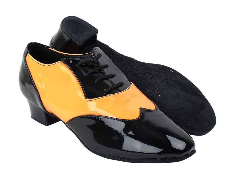 CM100101 Black Patent_F_B_228 Fluorescent Orange Patent_M with 1.5