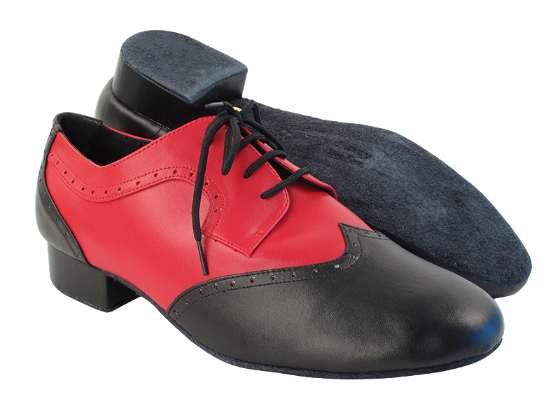 PP302 Black_F_B_Red Leather with 1