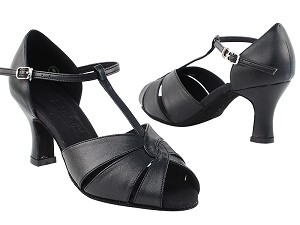 "C6006 Black Leather with 2.5"" Heel in the photo"