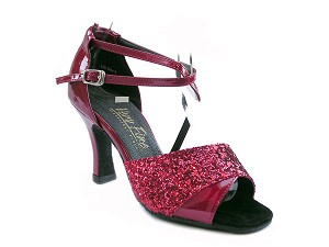 "1659 Red Sparkle & Red Patent with 3"" Heel in the photo"
