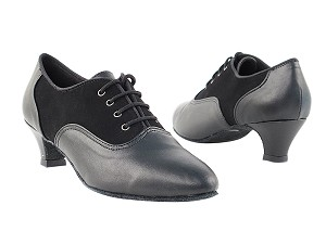 1688 Black Nubuck & Black Leather & Cuban Heel