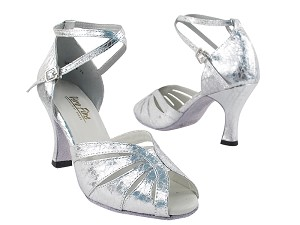 "2713 Ultra Silver with 3"" heel in the photo"