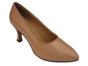 "6901 Brown Satin with 2.75"" heel in the photo"
