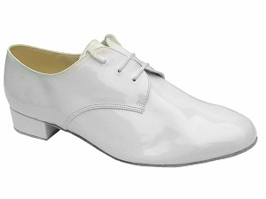 "916103 White Patent with 1"" heel in the photo"