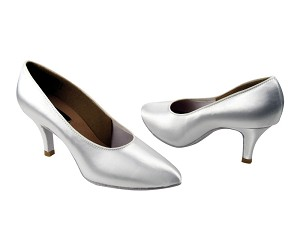 "CD5021M White Satin with 2.75"" Slim heel in the photo"