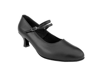 "S9119 Black Leather with 2"" Slim heel in the photo"