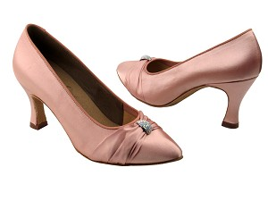 "S9169 Flesh Satin with 2.75"" heel in the photo"