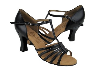 "S9273 Black Leather with 2.5"" heel in the photo"