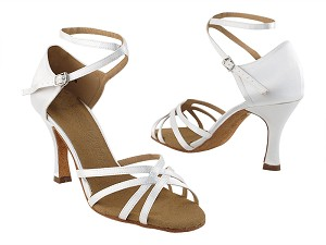 "SERA1606 Ivory Satin with 3"" heel in the photo"