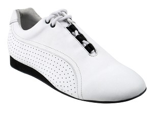 SERO101 White Leather with flat heel in the photo