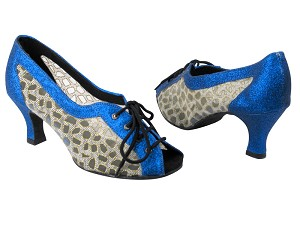 "1644 234 Blue Stardust & 196 Mesh with 2.5"" Low Heel in the photo"
