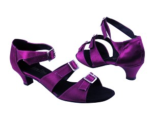 "1679 111 Purple Satin with 1.3"" heel in the photo"