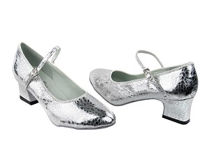 "1682 205 Ultra Silver with 2"" Thick Cuban Heel in the photo"