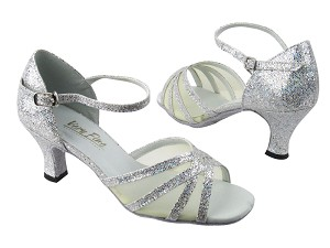 "6027 107 Silver Scale_Flesh Mesh with 2.5"" low heel in the photo"